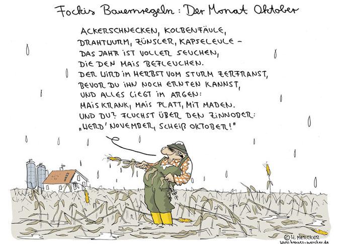 """Bildgeschichte """"Fockis Bauernregeln - Oktober"""""""