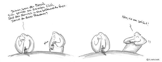 "Cartoon Tagträumer Nr. 09 ""Beklemmende Enge"""