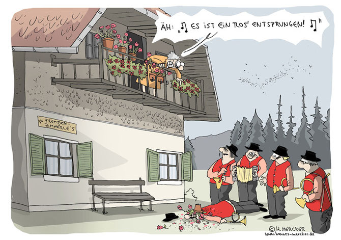 "Cartoon ""Viereinhalb Musikanten"""