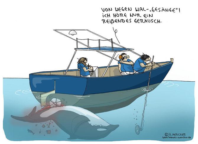 """Cartoon """"Walgesänge"""""""