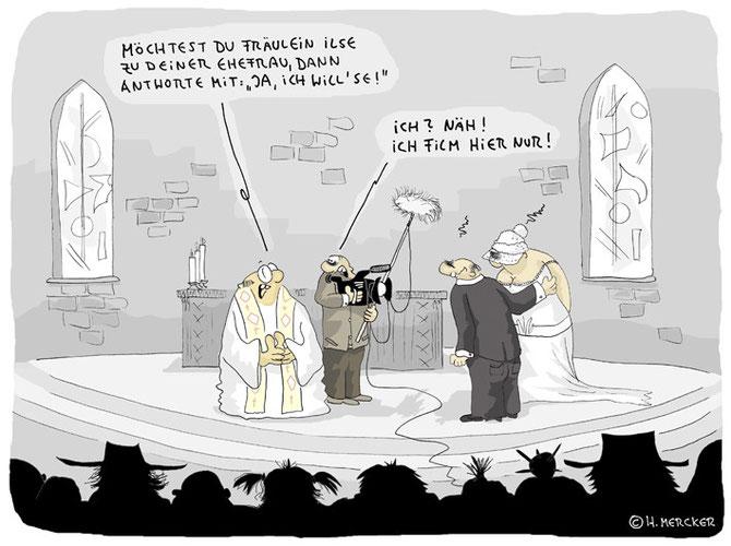 """Cartoon """"Hochzeit"""""""
