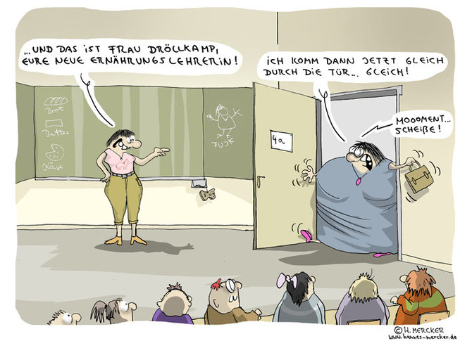 "Cartoon ""Frau Dröllkamp"""