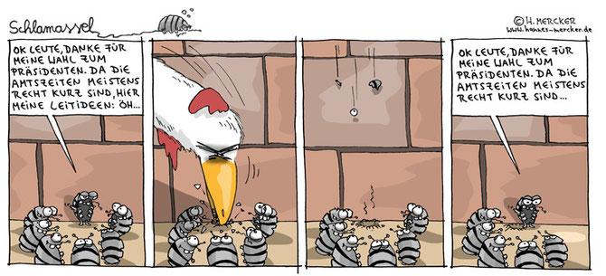 Schlamassel-Comictrip über die Wahl zum Präsidenten