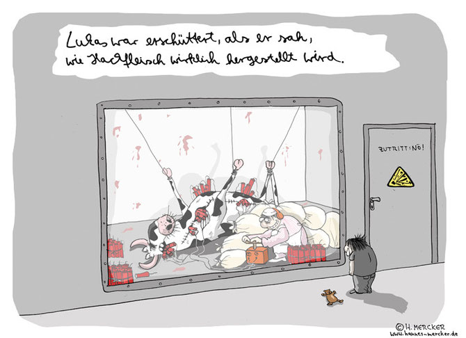 "Cartoon ""Wie man es macht"""