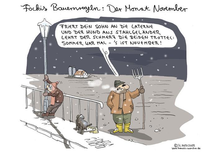 """Bildgeschichte """"Fockis Bauernregeln - November"""""""