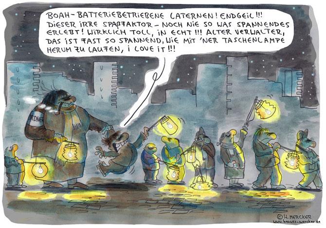 """Cartoon """"Bummellaterne"""""""