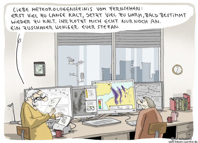 "Cartoon ""Brief an die Meteorologen"""
