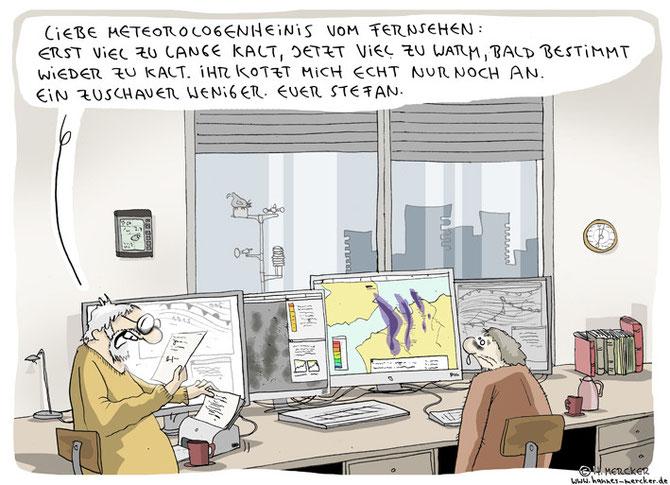 """Cartoon """"Brief an die Meteorologen"""""""