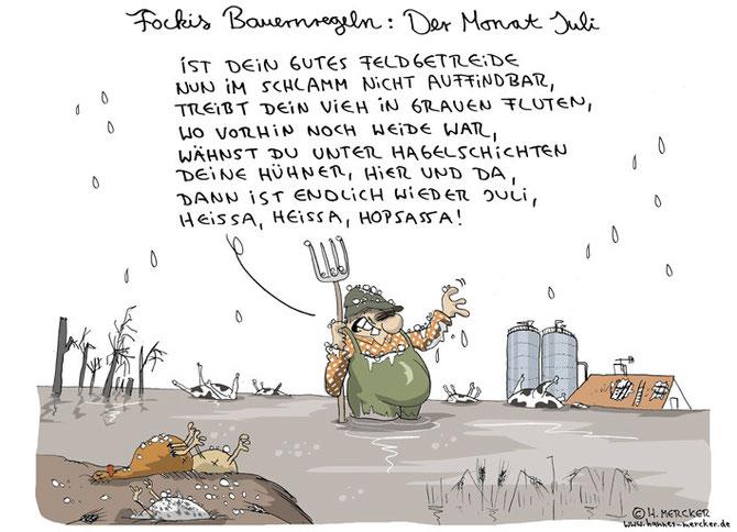 """Bildgeschichte """"Fockis Bauernregeln - Juli"""""""