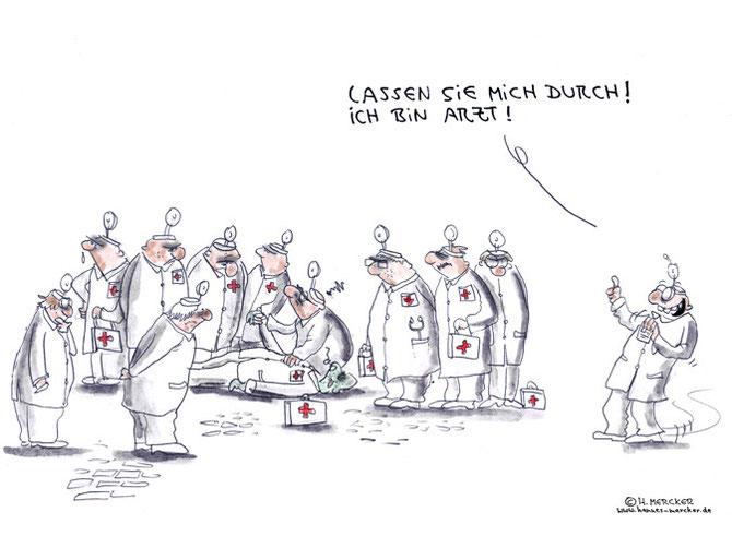 """Cartoon """"Einer zu viel"""""""