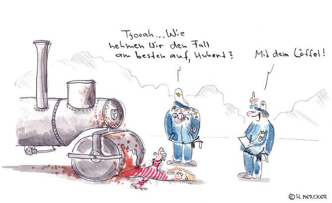 "Cartoon ""Kriminalfall"""