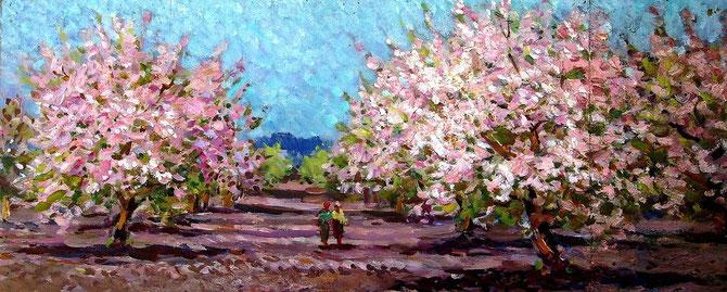 «В саду весной», эскиз