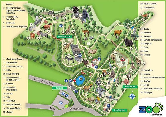 Saarbrücken, Zoo - Orchifant - Botanische und Zoologische Gärten