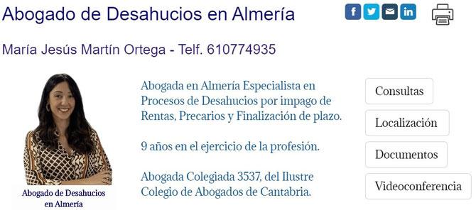 Abogada de Desahucios en Almería