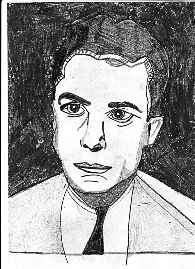 Albert Camus young Bleistift  (c) Miriam Gil