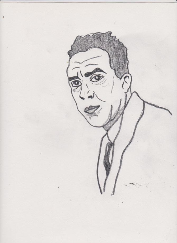 Albert Camus _Bleistift_ (c) Miriam Gil