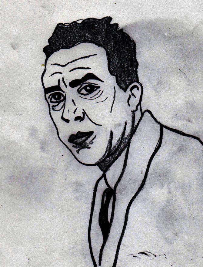 Albert Camus _Bleistift (II)_ (c) Miriam Gil