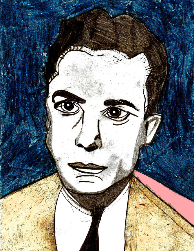 Albert Camus young Skizze  (c) Miriam Gil