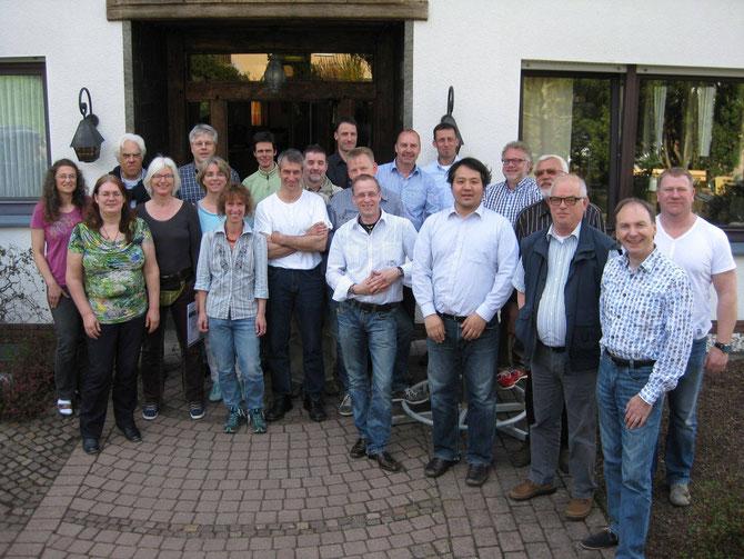 ホテルでのセミナーにて同僚達と Seminar bei einem Hotel mit den Mitstreitern für die Anerkennung der Baubiologie