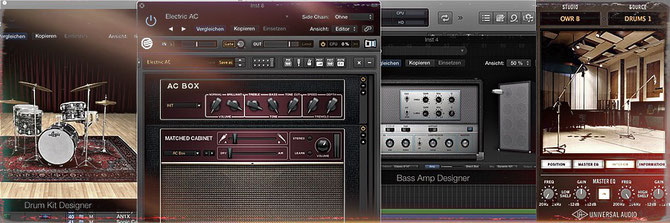 """FiX"" PlugIns in LogicPro X. Drum Designer, Guitar Rig 5, Bass Amp, UA Ocean Ways Studio"