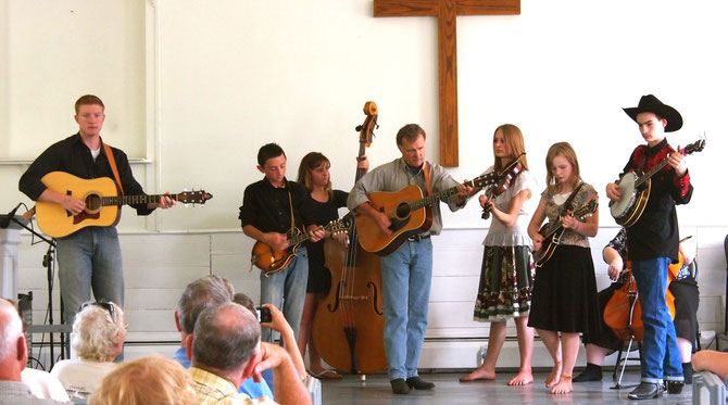Young and Blue Perform on the Church Stage