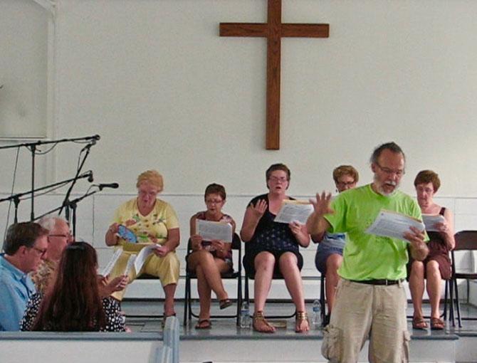 Sacred Harp  Traditional Appalachian Singing -- Church Stage