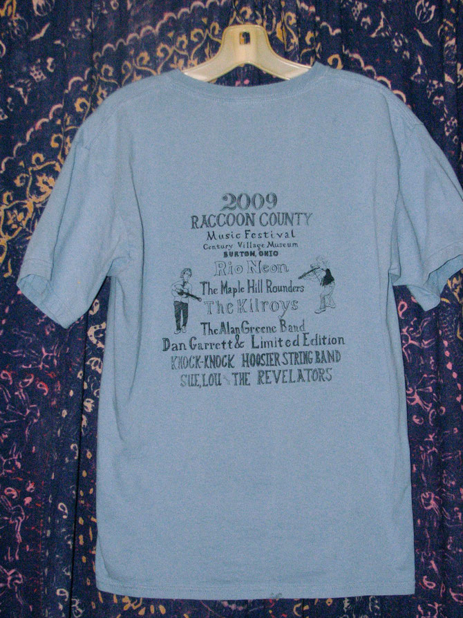 BACK OF 2009 T-SHIRT