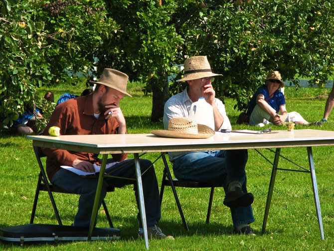 Deliberations by Judges during Fiddle Contest