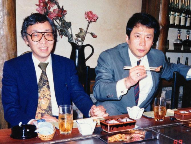 1989年4月25日、若かりし頃のチャンピオン社々長・吉原謙以知と竹垣悟
