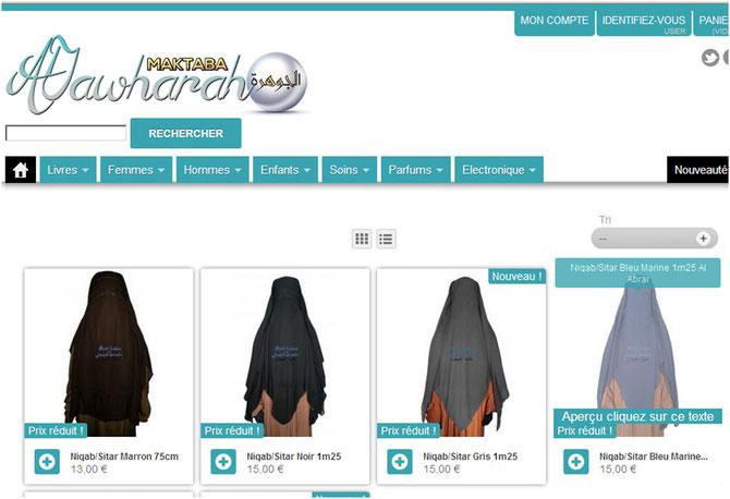 Niqab a vendre