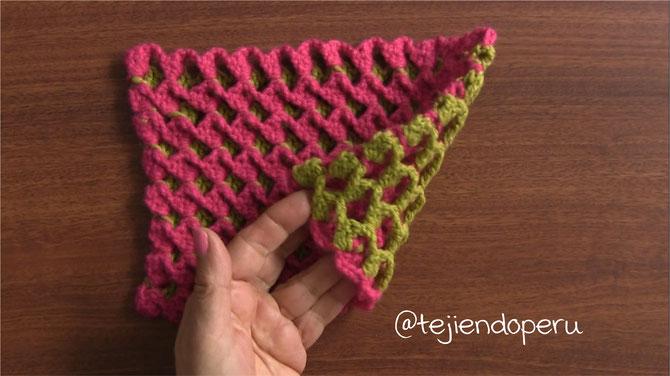 Punto turco tejido a crochet