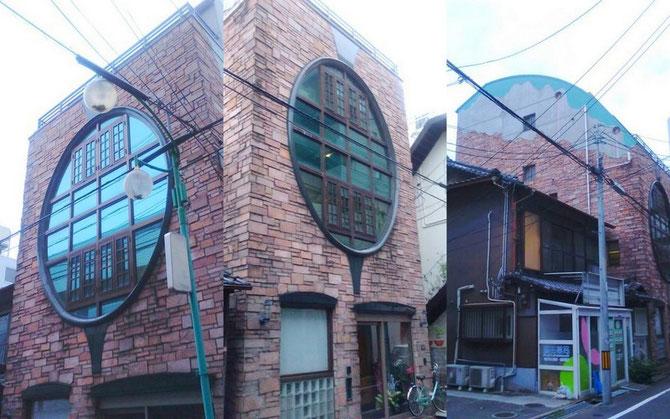 住宅石工事 外部壁 砂岩貼り