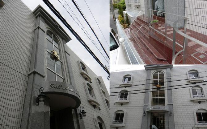 2010年ベルメゾン(豊中市)外壁柱型 御影石貼り 乾式工法