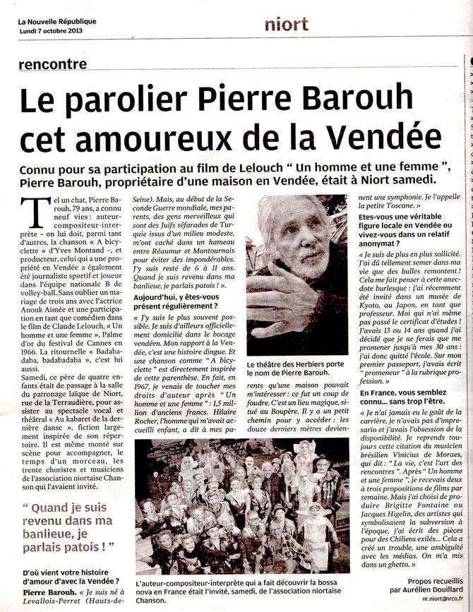 rencontre avec P. Barouh