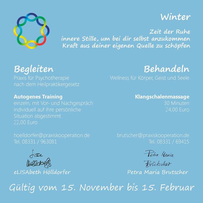 Winterangebot 2012 / 2013 Praxiskooperation Memmingen - Hölldorfer und Brutscher