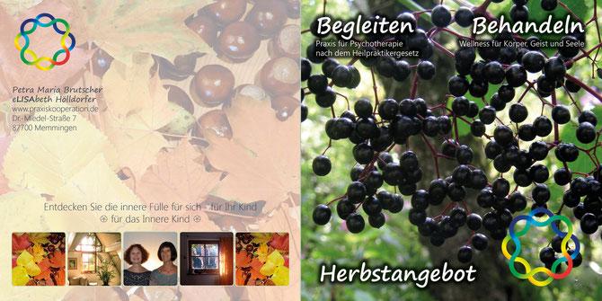 Herbstangebote 2015 von Petra Maria Brutscher und Elisabeth Hölldorfer