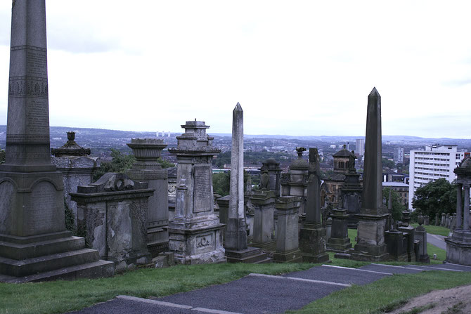 Glasgow Scotland ofpenguinsandelephants of penguins & elephants Necropolis cemetery