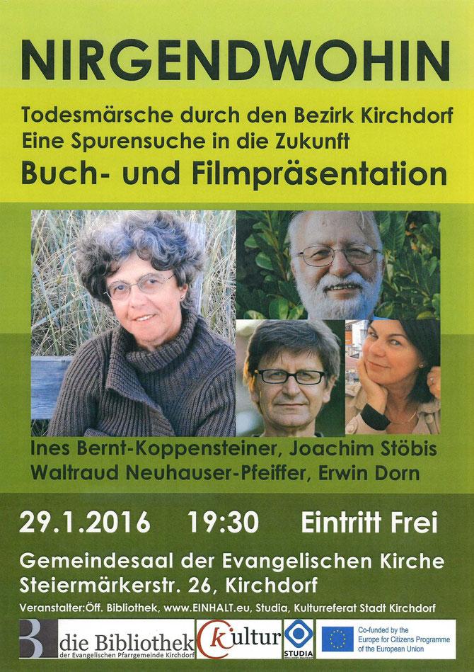Einladung zur Film- und Buchpräsentation in Kirchdorf