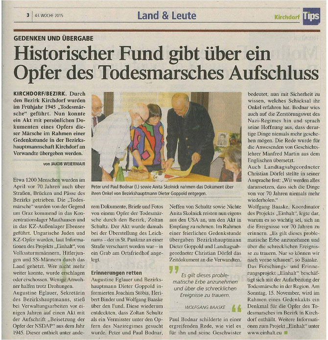 Link: http://www.tips.at/news/kirchdorf/land-leute/328682-historischer-fund-gibt-ueber-ein-opfer-des-todesmarsches-im-bezirk-kirchdorf-aufschluss