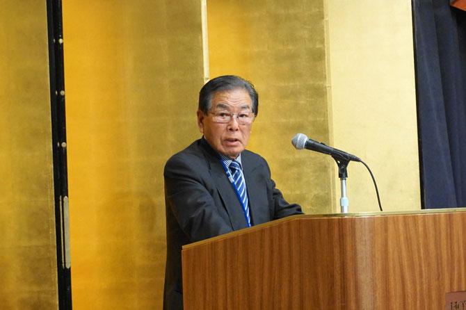 両組合を代表して、横内昭次郎理事長の挨拶