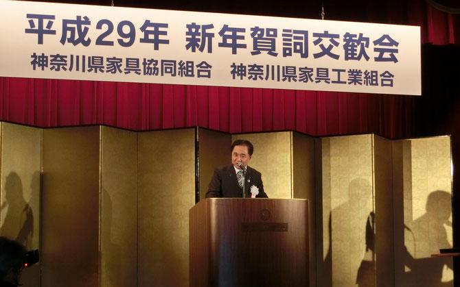 主賓、黒岩神奈川県知事のユーモア溢れるご挨拶