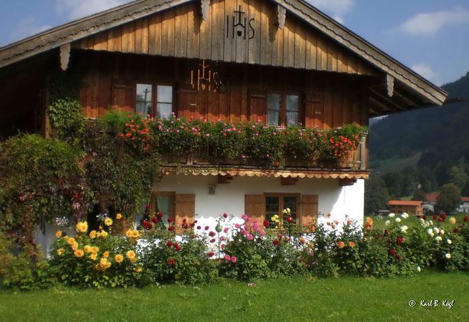 Blumen machen Häuser zu Palästen