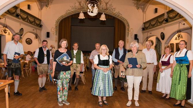 Ehrung langjähriger Mitglieder  (Foto R. Poeplau)