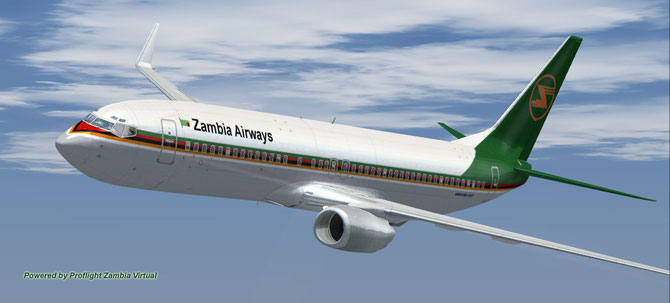 Zambia Airlines Livery for FSX Default Boeing 737-800