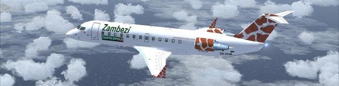 """Zambezi Airlines CRJ200 """"9J-ZAM"""""""