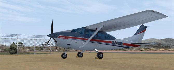 "Cessna 206 ""9J-FRW"" (private)"