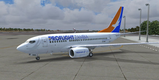 Proflight Zambia Boeing 737-600 NGX (PMDG) livery now available