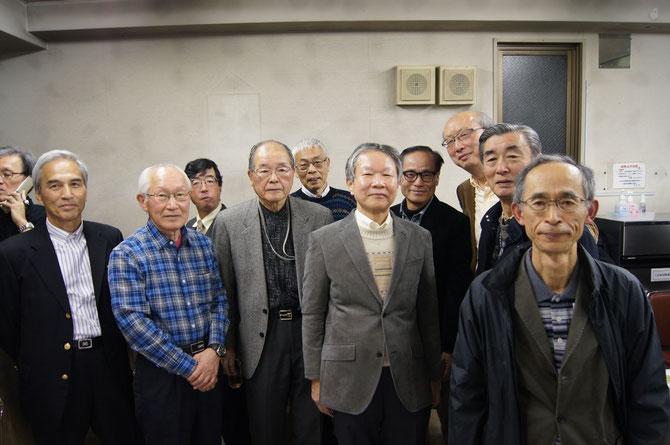 前列は19期富田氏、12期今枝氏、7期荒張氏、20期赤澤氏、渡辺氏、19期岡田氏