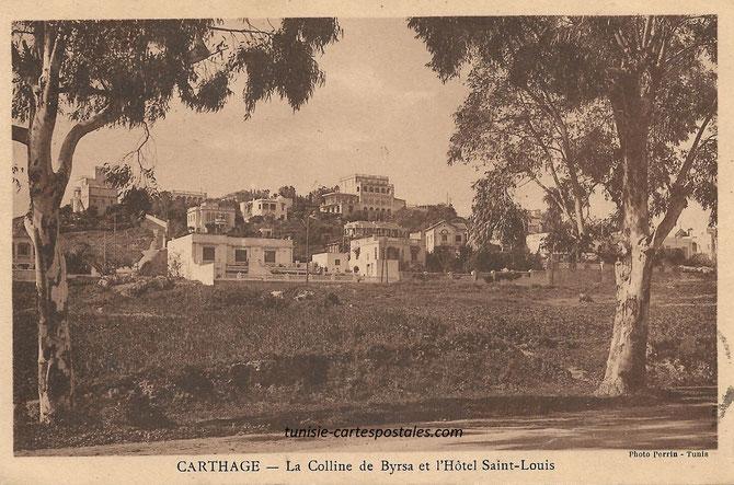 Carthage la colline de Byrsa et Hôtel Saint Louis