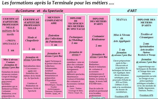 Formations du Lycée La Source à Nogent sur Marne (CLIQUER POUR AGRANDIR)